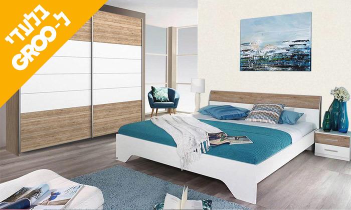 12 חדר שינה זוגי הכולל: מיטה זוגית, 2 שידות וארון הזזה