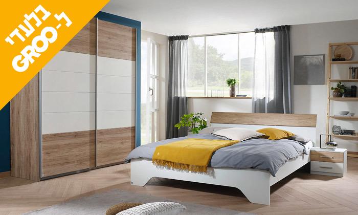 3 חדר שינה זוגי הכולל: מיטה זוגית, 2 שידות וארון הזזה