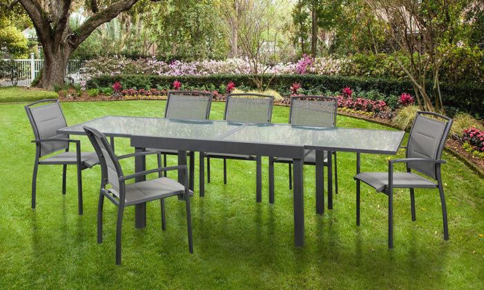 2 פינת אוכל ו-6 כיסאות Australia Camp דגם SAVANA