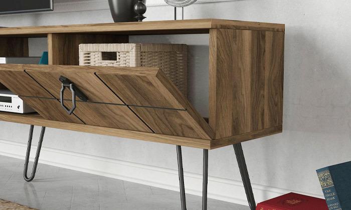 3 סט מזנון טלוויזיה ושולחן קפה דגם ריאלטו - זוג מדפי תלייה מתנה