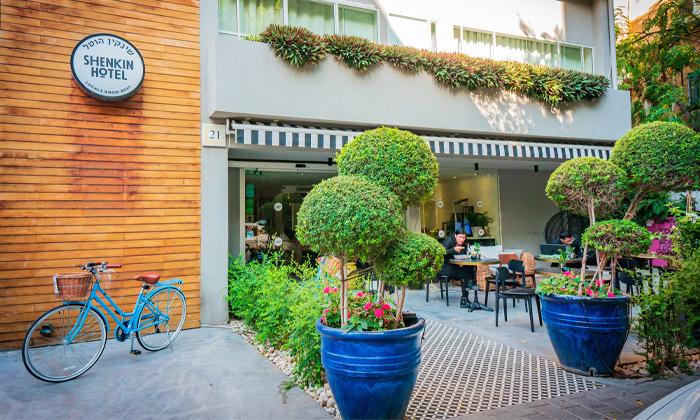 3 חופשה זוגית עם עיסוי במלון הבוטיק שנקין תל אביב, כולל חגים