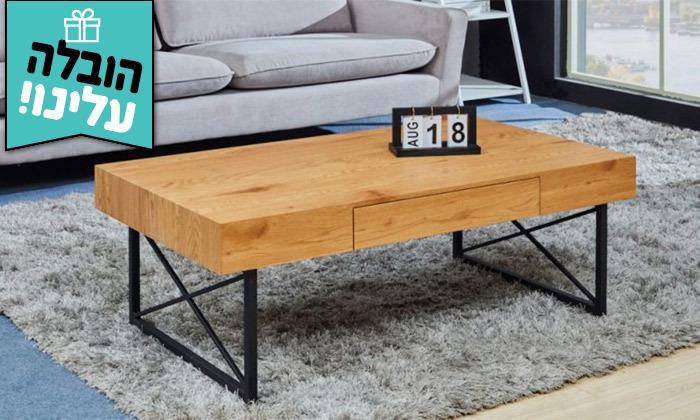 2 שולחן סלון מעץ דגם DENVER - משלוח חינם