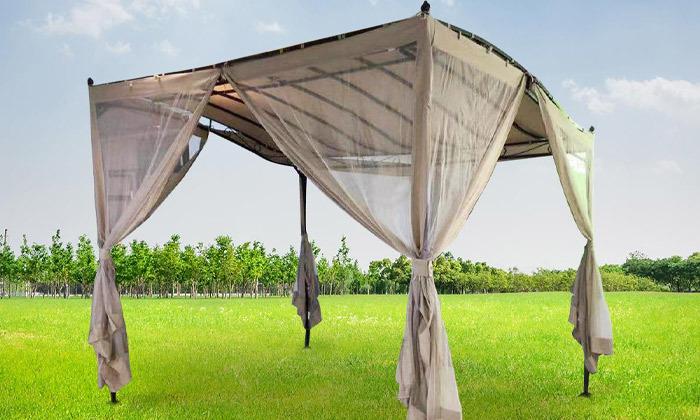 2 גזיבו לגינה עם רשת נגד יתושים