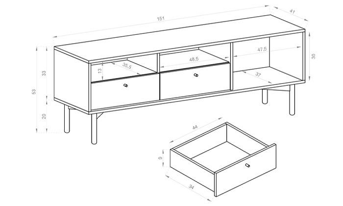 6 שולחן סלון או מזנון HOME DECORדגם איילת