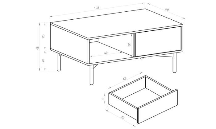7 שולחן סלון או מזנון HOME DECORדגם איילת