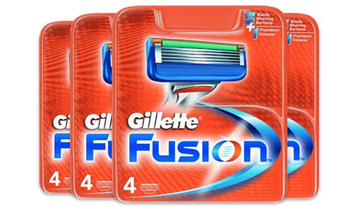 2 ג'ילט Gillette Fusion - מארז 16 סכיני גילוח