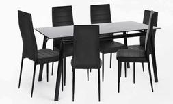 פינת אוכל עם 6 כיסאות