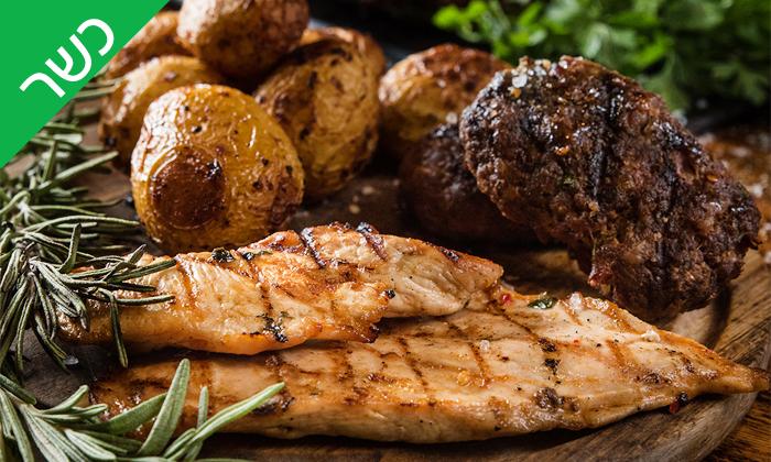 3 רק בשר סניף רחובות, כשר - ארוחת פרימיום זוגית