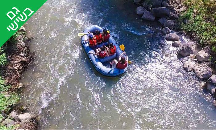 4 מסלול נינג'ה, קיר טיפוס ושייט קייאקים בנהר הירדן