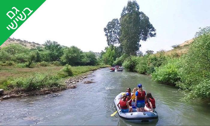 5 מסלול נינג'ה, קיר טיפוס ושייט קייאקים בנהר הירדן