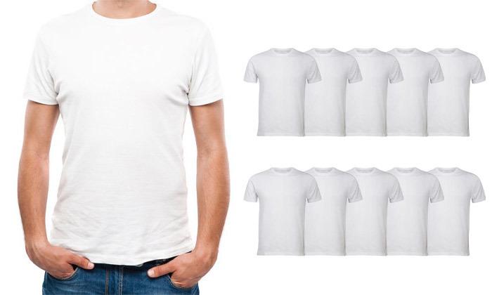 2 מארז 12 חולצות קצרות לגברים