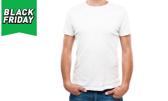 4 מארז 10 חולצות קצרות 100% כותנה לגברים