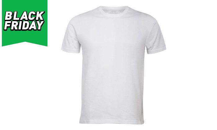 3 מארז 10 חולצות קצרות 100% כותנה לגברים