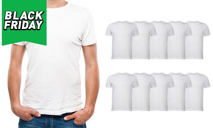 2 מארז 10 חולצות קצרות 100% כותנה לגברים