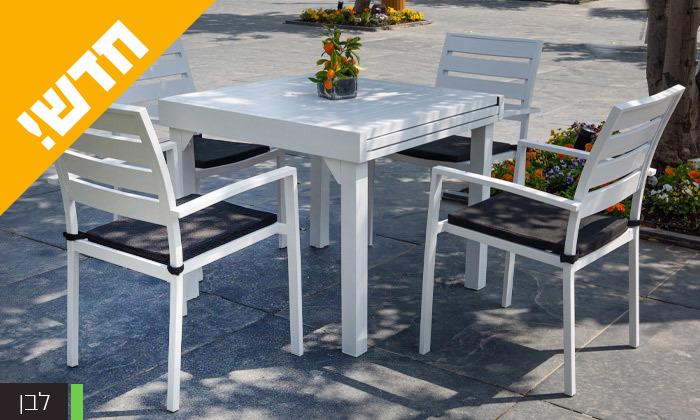 """3 סט שולחן נפתח ל-180 ס""""מ ו-4 כיסאות לגינה SCAB דגם Joy 1800"""
