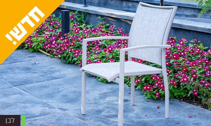 """6 סט שולחן נפתח ל-180 ס""""מ ו-4 כיסאות לגינה SCAB דגם Joy 1800"""