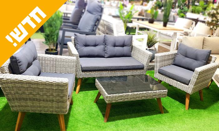 2 ריהוט גן עם ספה דו מושבית דגם קורדובה