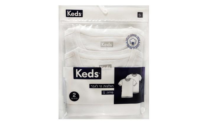 5 6 חולצות טי שירט KEDS  לגברים