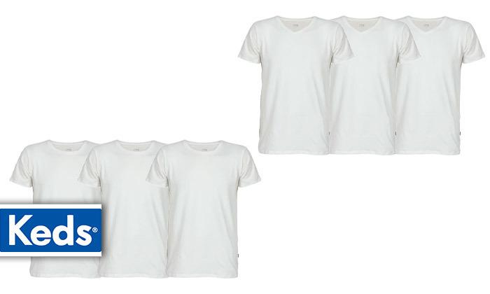 2 6 חולצות טי שירט KEDS  לגברים