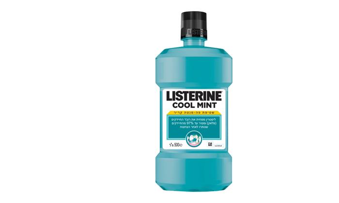 3 6 יחידות שטיפת פה ליסטרין Listerine - משלוח חינם