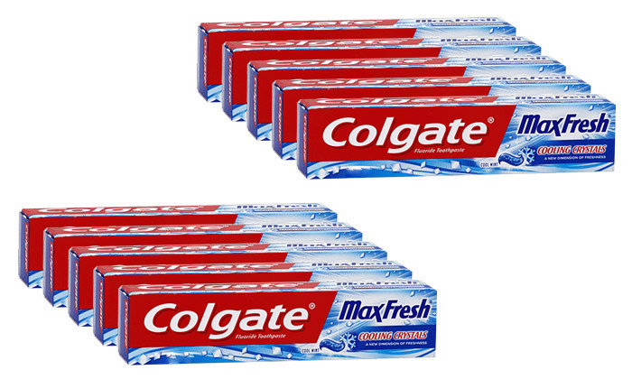 2 10 יחידות משחת שיניים Colgate קולגייט מקס פרש