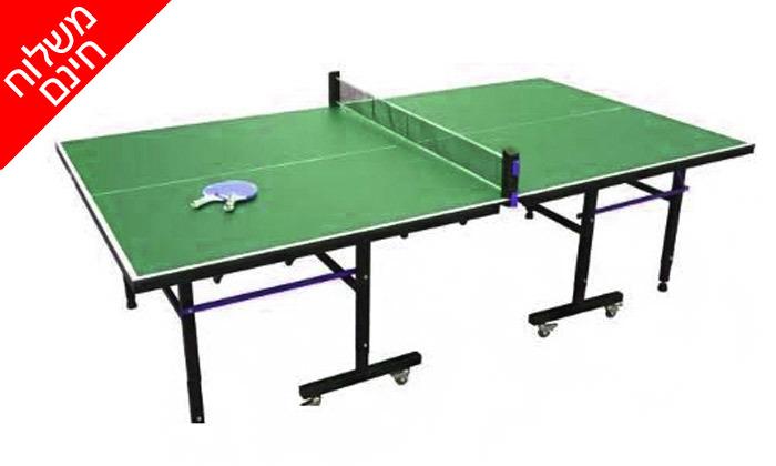 4 שולחן טניס פנים GENERAL Fitness עם מחבטים וכדורים - משלוח חינם