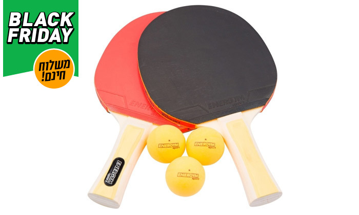 3 שולחן טניס פנים GENERAL Fitness עם מחבטים וכדורים - משלוח חינם
