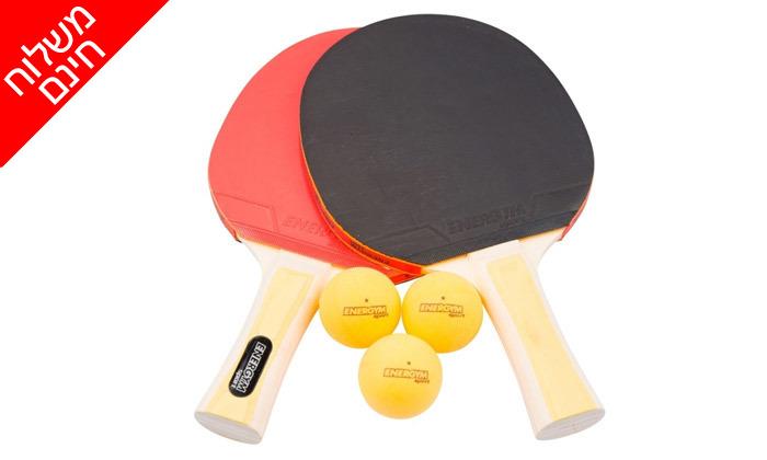 3 שולחן פינג פונג פניםENERGYM sport - משלוח חינם