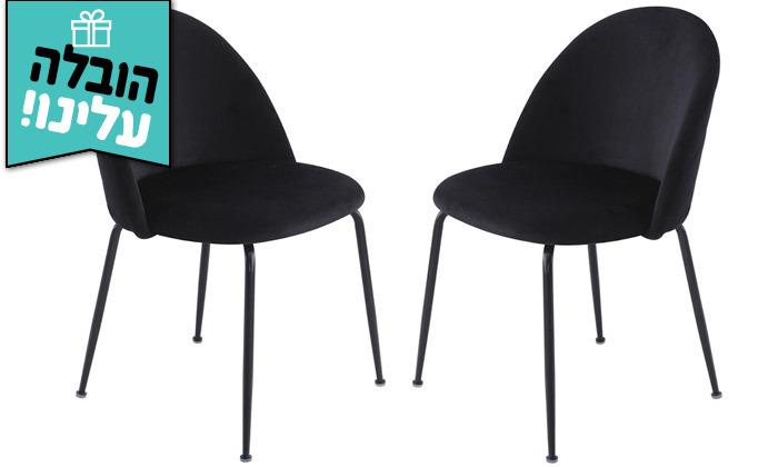 2 זוג כיסאות מרופדים לפינת האוכל HOME DECOR,דגם תובל - משלוח חינם