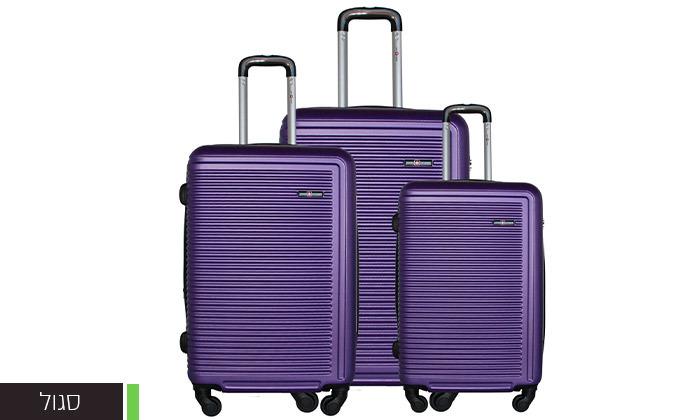 4 שלישיית מזוודות קשיחות SWISS TUSTIN