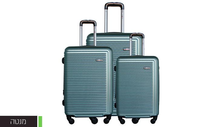 6 שלישיית מזוודות קשיחות SWISS TUSTIN