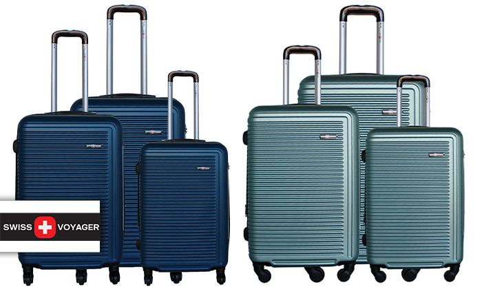 2 שלישיית מזוודות קשיחות SWISS TUSTIN
