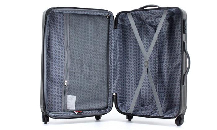 10 שלישיית מזוודות קשיחות SWISS TUSTIN