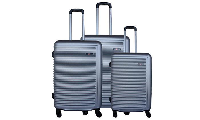 14 שלישיית מזוודות קשיחות SWISS TUSTIN
