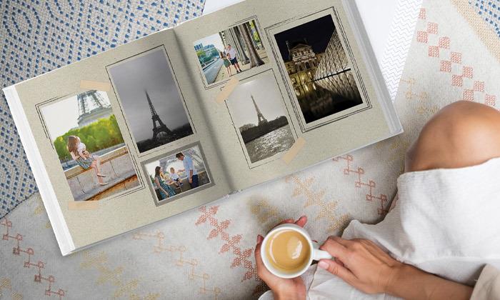 6 אלבום תמונות ענק בכריכה קשה ללא הגבלת עמודים באתר ZOOMA