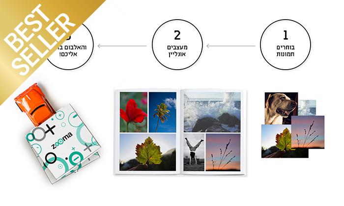 4 אלבום תמונות קלאסי A4 בכריכה קשה ZOOMA