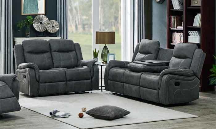6 ספה דו מושבית עם ריקליינרים HOME DECOR, דגם אוליביה