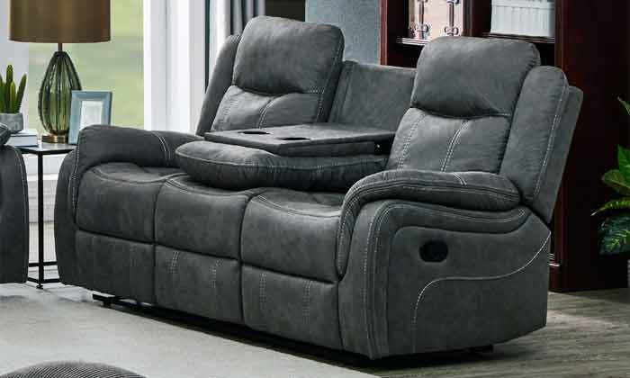 4 ספה דו מושבית עם ריקליינרים HOME DECOR, דגם אוליביה