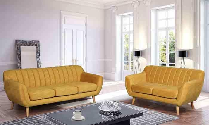 5 ספה דו מושבית HOME DECORדגם פורטו