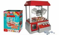 מכונת ממתקים מנגנת עם אסימונים