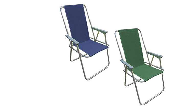 2 כיסא פיקניק מתקפל AUSTRALIA CAMP, דגם Milano High Back