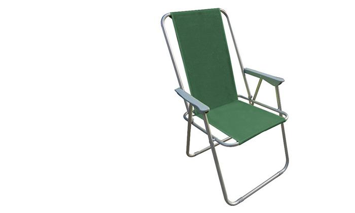 3 כיסא פיקניק מתקפל AUSTRALIA CAMP, דגם Milano High Back