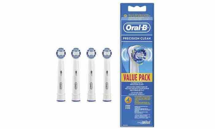 3 מברשת שיניים חשמלית דגםVitality ו-4 ראשי מילוי אורל בי Oral-B
