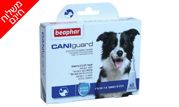 4 מארז אמפולות נגד פרעושים וקרציות בכלבים CANIguard - משלוח חינם