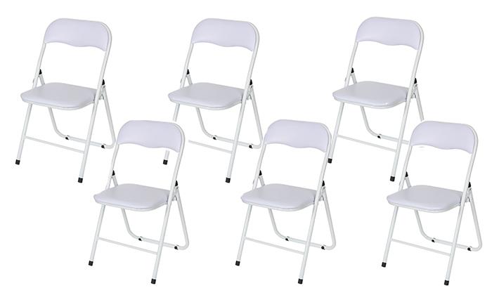 4 שישיית כיסאות מתקפלים