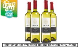 מארז 4 בקבוקי יין לבן דלתון