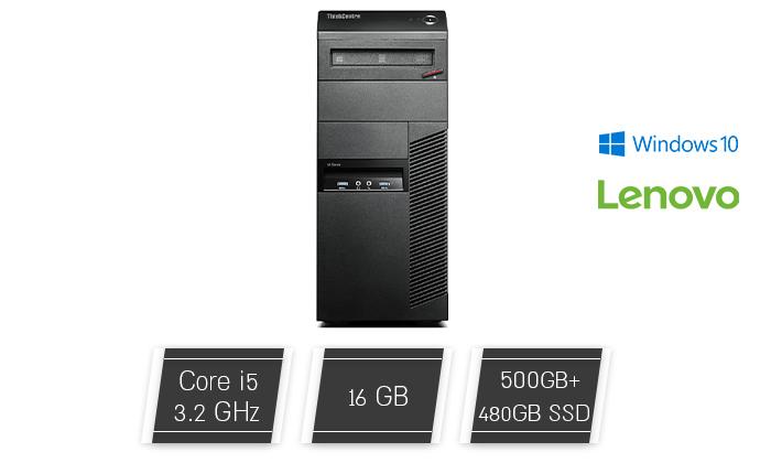 2 מחשב נייח LENOVO עם מעבד I5