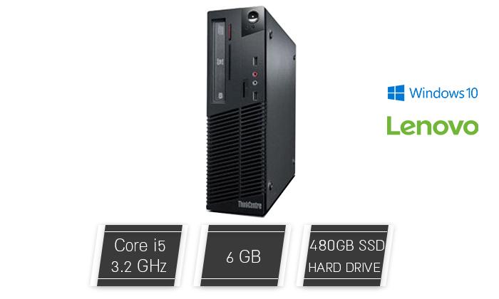 2 מחשב נייח מחודש לנובו Lenovo דגם M72E עם זיכרון 6GB ומעבד i5