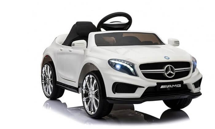 2 דיל לזמן מוגבל: מכונית מרצדס ממונעת לילדים 12V עם שלט מקודד