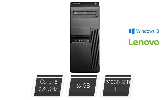 2 מחשב נייח לנובו Lenovo עם מעבד i5 וכ. גרפי GeForce GTX 1050 Ti